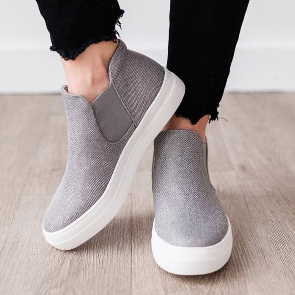 2 Left 5 Grey Platform Slip On Sneaker